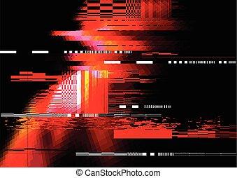 glitch, rode achtergrond