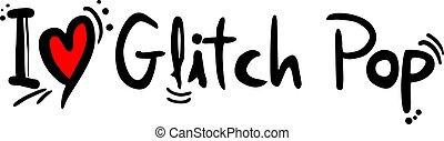 glitch, style, musique, pop