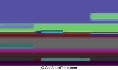 Glitch TV Screen. Desaturated Green Background - Horizontal...