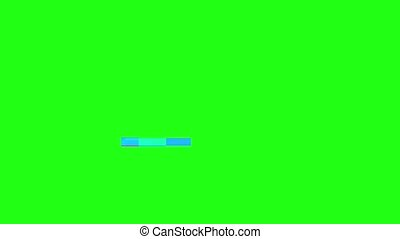Glitch TV Screen. Green Background - Horizontal Glitch on a...