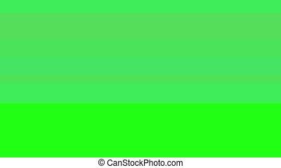 Glitch TV Screen. Green Background