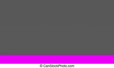 Glitch TV Screen. Purple Background - Horizontal Glitch on a...