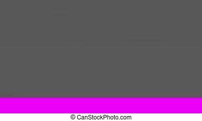 Glitch TV Screen. Purple Background