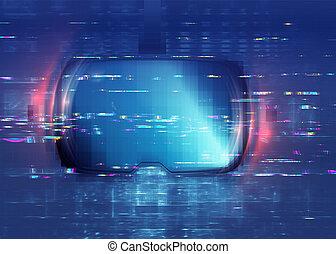 glitch, vr, lunettes