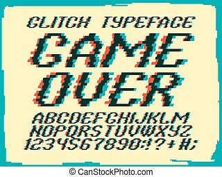 Glith typeface Game Over