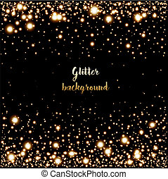Glitter background with glowing lights. Design element. Can...