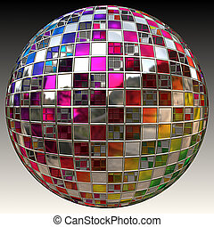 Glitter ball - A sparkling glitter ball or disco ball
