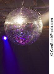 Glitter Ball - A huge mirrored glitter ball illuminated by...