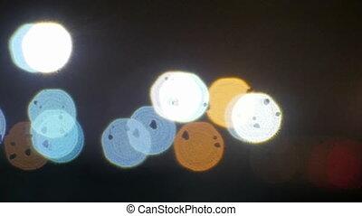 glitter bokeh color lights defocused background