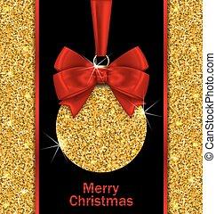Glitter Card with Christmas Ball