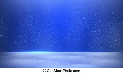 glitter dust on blue background seamless loop