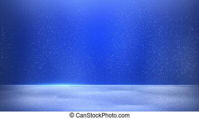 glitter dust on blue background seamless loop