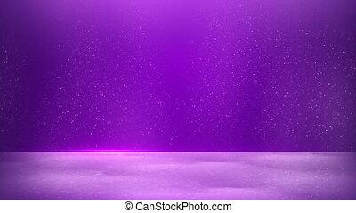 glitter dust on purple background