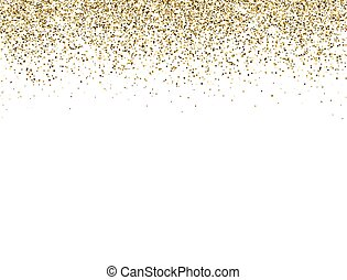 Glitter gold border with space for text. Golden sparkles and...