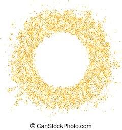 Glitter gold frame