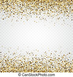 Glitter gold frame with space for text. Luxury glitter ...