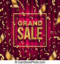 Glitter gold grand sale sign