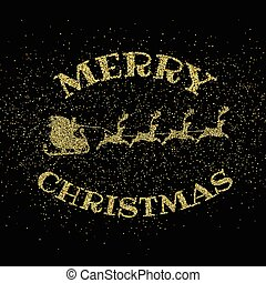 glitter gold merry christmas background 2609