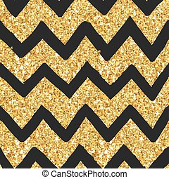 Glitter Golden Pattern - Seamless Background - in vector