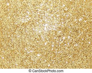 glitter, gul