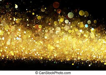 glitter, guld