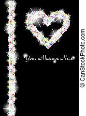 Glitter Heart Background