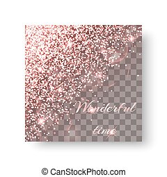 Glitter pink background - Sequins background with new year...