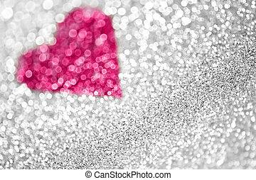 Glitter Pink Heart Background