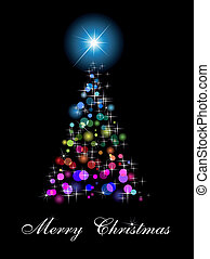 Rainbow Abstract Christmas Tree