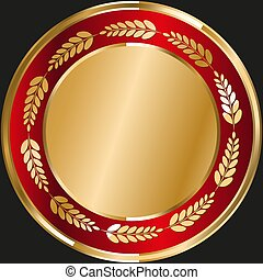 Glitter round gold template