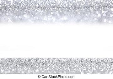 glitter, silver, bakgrund