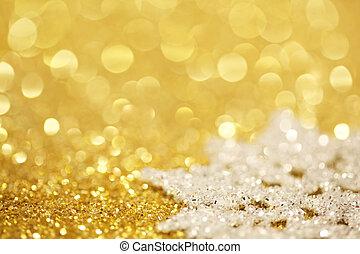 glitter, snöflinga