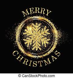 Glitter snowflake Christmas background