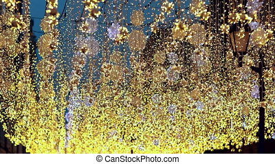 Glitter vintage lights blurry bokeh background