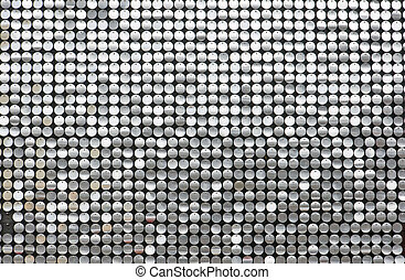 Glittering background with small reflecting circles