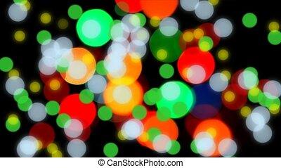 Glittering bokeh lights - Defocused glittering multicolor...
