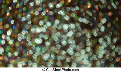 Flickering of colored bokeh. Full hd video