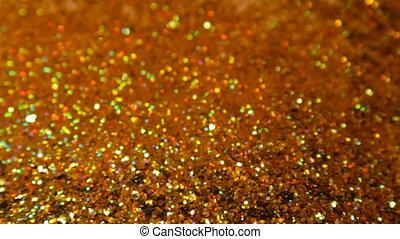 Glittering brilliance in blur - Flickering of colored...