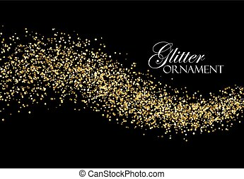 Glittering golden stream of sparkles. - Glittering golden...