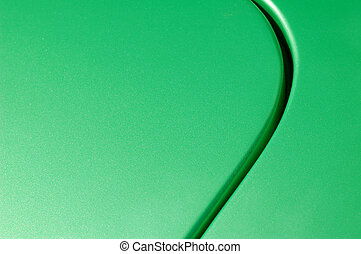 glittering green vehicle panel abstract