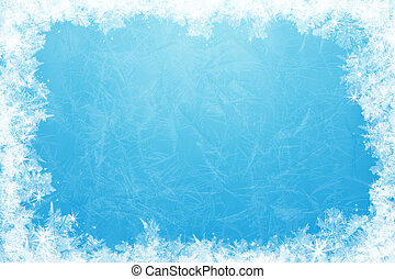 Glittering ice frame - Gleaming shining ice frame, in the...