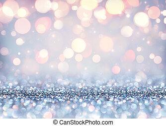glittering, kerstmis, effect