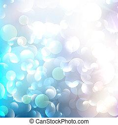 Glittering llight on bokeh background.