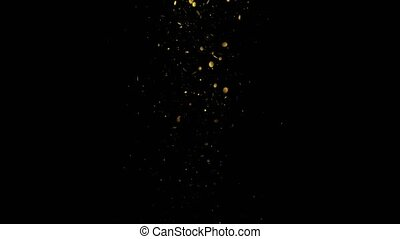 Glittering Magic trail of light on black background