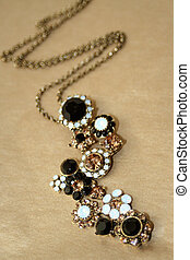 glittering necklace - necklace with glittering gems