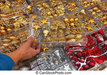 Glittering - Packings with various Christmas tree...