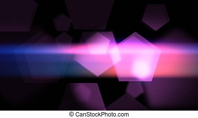 """Glittering pink and violet pentagons animation "" -..."