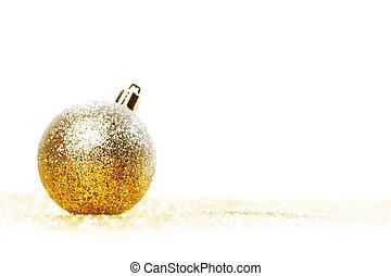 Glittering silver Christmas ball
