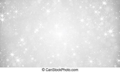 glittering silver dust loopable festive background -...