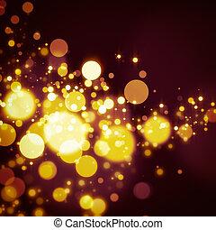 glittering star on bokeh background